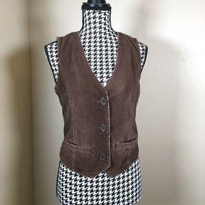 Brown Corduroy Abercrombie Vest